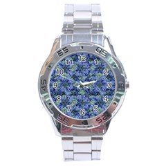 Modern Nature Print Pattern 7200 Stainless Steel Analogue Watch