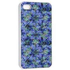 Modern Nature Print Pattern 7200 Apple Iphone 4/4s Seamless Case (white)