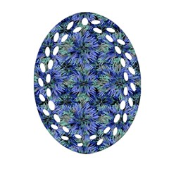 Modern Nature Print Pattern 7200 Oval Filigree Ornament (two Sides)