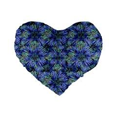 Modern Nature Print Pattern 7200 Standard 16  Premium Heart Shape Cushions