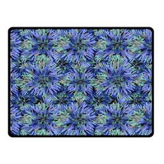 Modern Nature Print Pattern 7200 Double Sided Fleece Blanket (small)