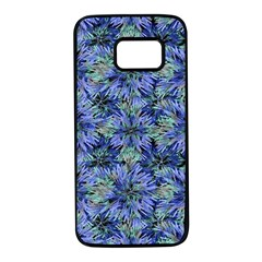 Modern Nature Print Pattern 7200 Samsung Galaxy S7 Black Seamless Case