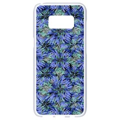 Modern Nature Print Pattern 7200 Samsung Galaxy S8 White Seamless Case