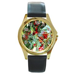 Eden Garden 10 Round Gold Metal Watch