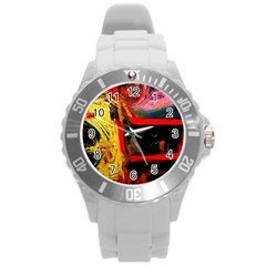 Abandoned Mine 2 Round Plastic Sport Watch (l) by bestdesignintheworld