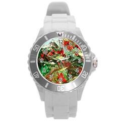 Eden Garden 8 Round Plastic Sport Watch (l) by bestdesignintheworld