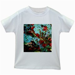 Eden Garden 7 Kids White T Shirts by bestdesignintheworld
