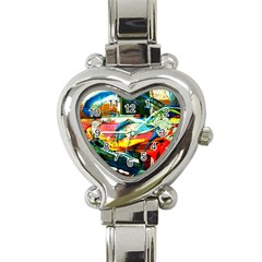 Aerobus Heart Italian Charm Watch by bestdesignintheworld
