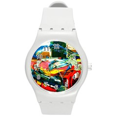 Aerobus Round Plastic Sport Watch (m) by bestdesignintheworld