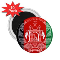 Flag Of Afghanistan 2 25  Magnets (10 Pack)