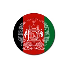 Flag Of Afghanistan Rubber Coaster (round)  by abbeyz71