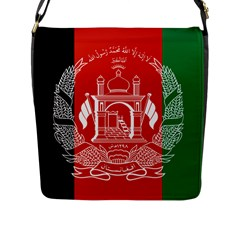 Flag Of Afghanistan Flap Messenger Bag (l)