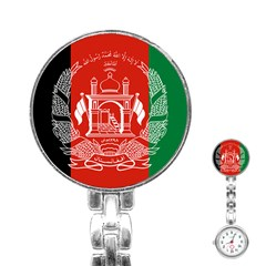 Flag Of Afghanistan Stainless Steel Nurses Watch