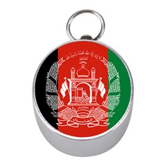 Flag Of Afghanistan Mini Silver Compasses by abbeyz71