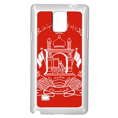 Flag Of Afghanistan Samsung Galaxy Note 4 Case (white)