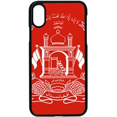 Flag Of Afghanistan Apple Iphone X Seamless Case (black)