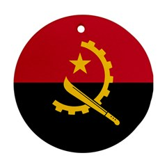Flag Of Angola Ornament (round)
