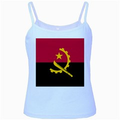 Flag Of Angola Baby Blue Spaghetti Tank