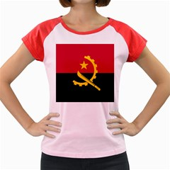 Flag Of Angola Women s Cap Sleeve T Shirt