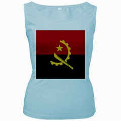 Flag Of Angola Women s Baby Blue Tank Top