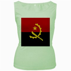 Flag Of Angola Women s Green Tank Top