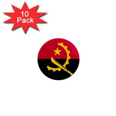Flag Of Angola 1  Mini Magnet (10 Pack)