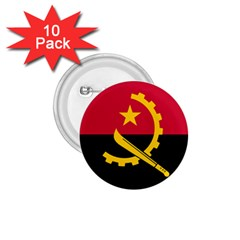 Flag Of Angola 1 75  Buttons (10 Pack)