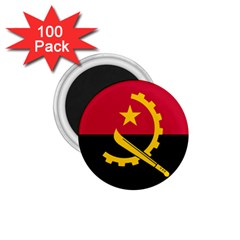 Flag Of Angola 1 75  Magnets (100 Pack)