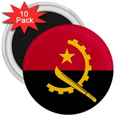 Flag Of Angola 3  Magnets (10 Pack)