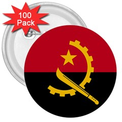 Flag Of Angola 3  Buttons (100 Pack)