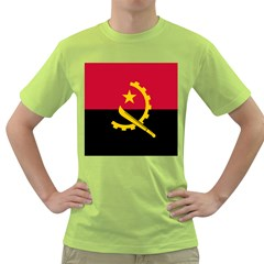 Flag Of Angola Green T Shirt