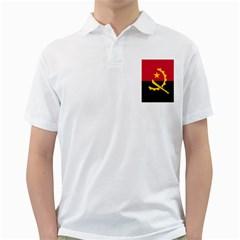 Flag Of Angola Golf Shirts