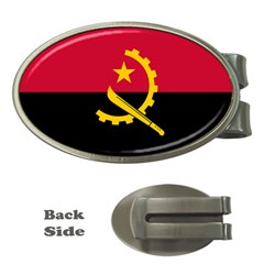 Flag Of Angola Money Clips (oval)