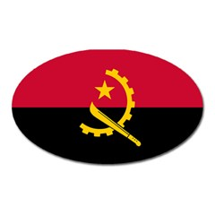 Flag Of Angola Oval Magnet by abbeyz71