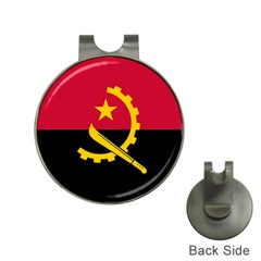 Flag Of Angola Hat Clips With Golf Markers