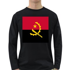 Flag Of Angola Long Sleeve Dark T Shirts
