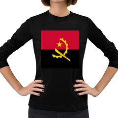 Flag Of Angola Women s Long Sleeve Dark T Shirts