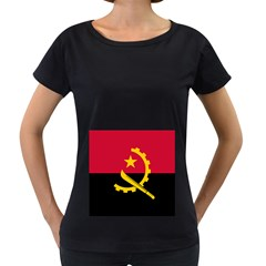 Flag Of Angola Women s Loose Fit T Shirt (black)