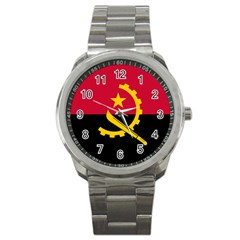 Flag Of Angola Sport Metal Watch