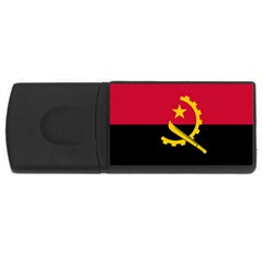 Flag Of Angola Rectangular Usb Flash Drive