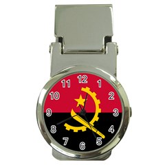 Flag Of Angola Money Clip Watches by abbeyz71