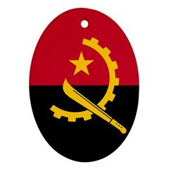 Flag Of Angola Oval Ornament (two Sides)