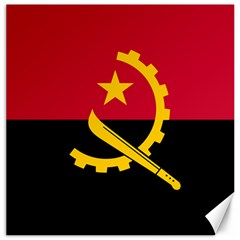 Flag Of Angola Canvas 12  X 12