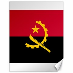 Flag Of Angola Canvas 18  X 24