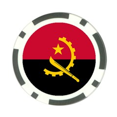 Flag Of Angola Poker Chip Card Guard (10 Pack)