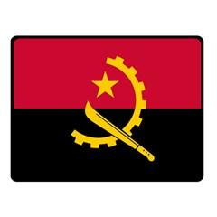 Flag Of Angola Fleece Blanket (small)