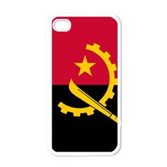 Flag Of Angola Apple Iphone 4 Case (white)