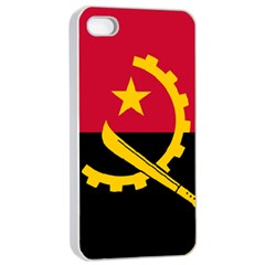 Flag Of Angola Apple Iphone 4/4s Seamless Case (white)