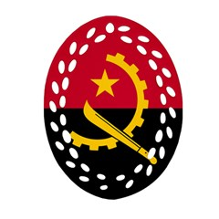 Flag Of Angola Oval Filigree Ornament (two Sides) by abbeyz71