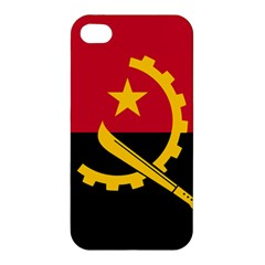Flag Of Angola Apple Iphone 4/4s Premium Hardshell Case